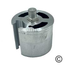 Aluminium lagerprop 63 met as 12 mm